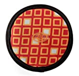 OllyDog The Olly Flyer Throw Disc Frisbee with Orange Squares, Large
