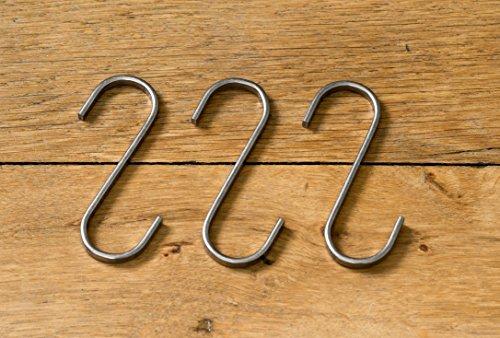3x-Designer-S-Haken-fr-Kleiderleiter-und-Kleiderstuhl-Edelstahl-s-frmige-Kleiderhaken-Badhaken-Garderobenhaken-Handtuchhaken-Kleiderbgel-Kchenhaken-Werkstatthaken-Metallhaken-Formhaken