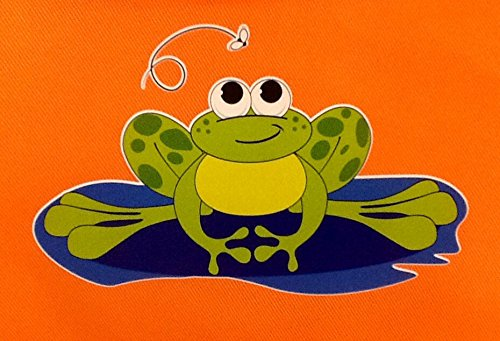 Children's Arts & Crafts Protective Apron ~ Adorable Bugs or Frogs ~ Kids 3+ orange