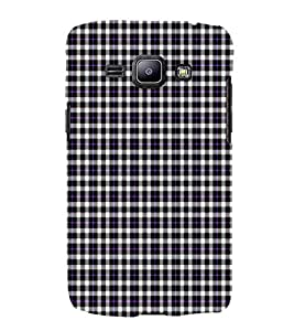 EPICCASE purple checks Mobile Back Case Cover For Samsung Galaxy J1 (Designer Case)