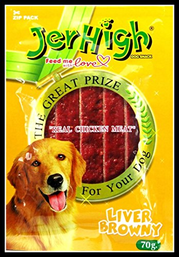 JerHigh Liver Browny Dog Treat, 70 G (Pack Of 6)