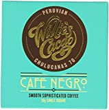 Willie's Cacao Cafe Negro/ Smooth Coffee with Peruvian 70 Dark Chocolate 50 g (Pack of 6)