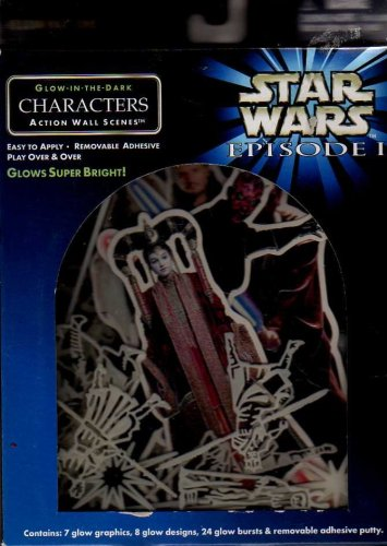 Star Wars Episode 1 Illuminations Glow-in-the-dark Characters Action Wall Scene - 1