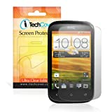 HTC Desire C Clear LCD Anti-Scratch Screen Protector Shield - 4-in-1 Pack - By iTechCover