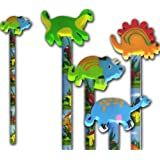 Dinosaur Pencil and dinosaur rubber stationery & party bag filler x 6