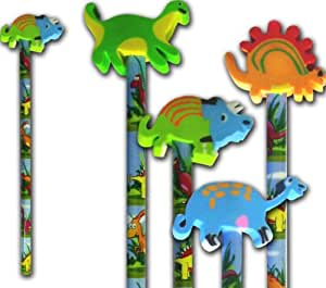 Dinosaur Pencil and dinosaur rubber stationery & party bag filler x 10