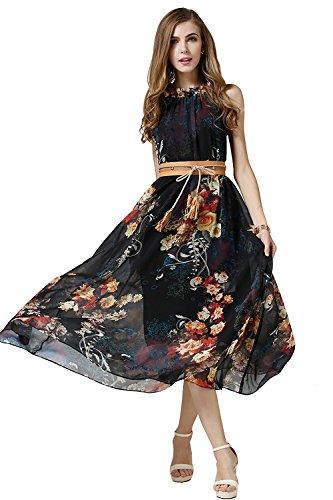 Babyonlniedress floral printed boho maxi dress beach long sundress