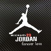 Michael Jordan マイケル・ジョーダン 車・バイク用 小サイズ ステッカー / デカール (ホワイト)