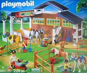 Playmobil fattoria con cavalli confezione grande amazon for Piani di casa di fattoria di cavalli