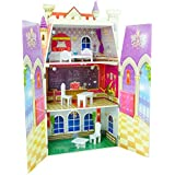 Teamson Kids Fancy Castle Theme Doll House with 5 Piece Funiture Toy, Multicolor
