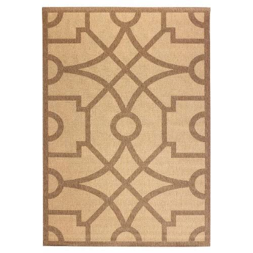 Martha stewart living fretwork all weather area rug 2 39 7 for All weather patio rugs