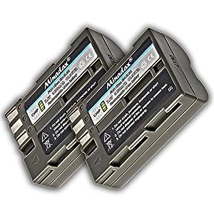 2x Minadax Li-Ion Akkus für Nikon D50, D70, D70S, D80, D90, D100, D200, D300, D300S, D700 - wie der EN-EL3
