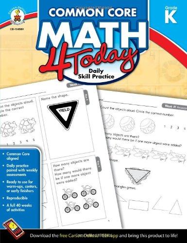 Common Core Math 4 Today, Grade K: Daily Skill Practice (Common Core 4 Today) PDF