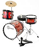 Red Childrens Drum Set Junior Kids Complete Kit with Cymbal Stool and Sticks