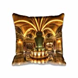 Bed Bug proof Throw Pillow Protector,Hotel In Las Vegas Zippered Decorative Holiday 20x20 inch Pillow Cases