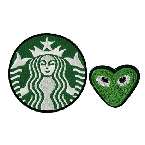 [Starbucks Embroidered Iron On Patch] (Last Minute Diy Toddler Halloween Costumes)