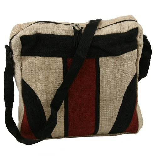 Hemp Fabric Shoulder Bag &#8211; Paneled W04S65F