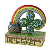 Enesco Jim Shore Heartwood Creek Four Leaf Clover Good Luck Figurine, 3.5-Inch