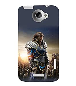 printtech Army General Game Commander Back Case Cover for HTC One X