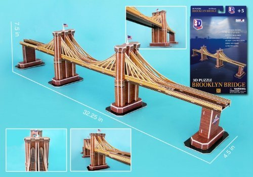 Daron Brooklyn Bridge 3D Puzzle, 64-Piece