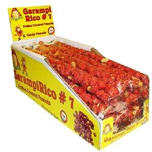 El Azteca Garampi Rico Praline Covered Peanuts in #7 Display Box, 16-Count Bags (Pack of 2)