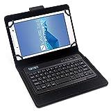 F.G.S キーボードケース 7/8インチ 汎用 タブレットキーボード カバー付き マルチOS対応 [JP配列/US配列両方対応] 超薄型[Bluetoothキーボード+タブレットスタンド+カバー] 日本語取扱説明書付き F.G.S正規代理品