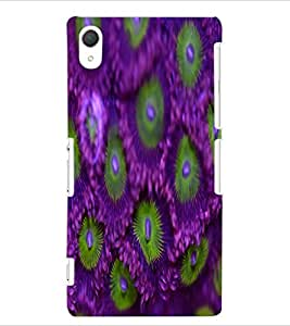ColourCraft Flowers Design Back Case Cover for SONY XPERIA Z2