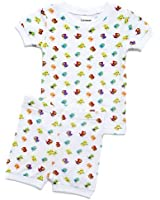 "Leveret Shorts Little Girl ""Birds Flying"" 2 Piece Pajama 100% Cotton (Size 6M-5T)"