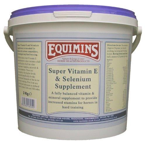 Super Vitamin E Supplement, Equimins, Horse Nutrition, Vitamins And Minerals,3.0Kg