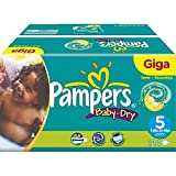Pampers Nappies Baby Dry Size 5 Giga Pack Junior 124