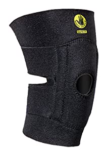 Body Glove 90131 Open Patella Breathable Neoprene Knee Support with Foam Pad, No Stays, Black, Unisize
