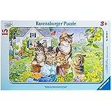 Ravensburger 06355 Gattini- Puzzle incorniciato da 15 pezzi