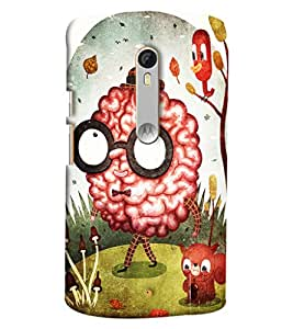 Blue Throat Brain Walking Printed Designer Back Cover For Moto X Style