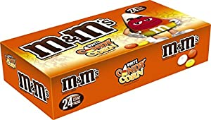 M&M'S Halloween White Candy Corn Chocolate MINIS Size Candy 1.5-Ounce Bag (Pack of 24)