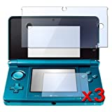 eForCity 3 Pack Clear LCD Screen Protector Cover Compatible with Nintendo 3DS (Set of 2 - Top and Bottom Cover)