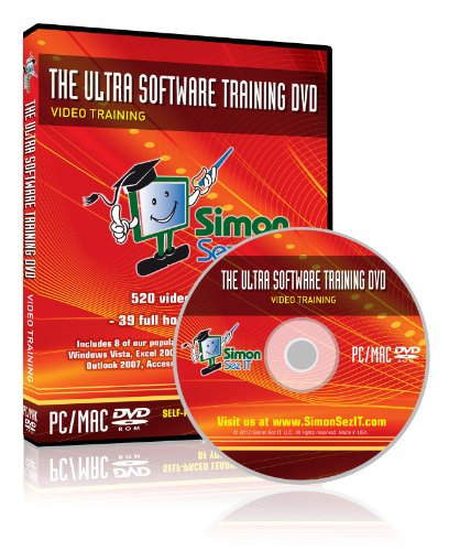 The Ultra Software Training Tutorial Dvd: Training Tutorials For Adobe Photoshop Elements 8, Microsoft Windows 7, Windows Vista And Microsoft Office 2007 Training For Excel 2007, Word 2007, Access 2007, Powerpoint 2007, And Outlook 2007 - 39 Hours Of Comp
