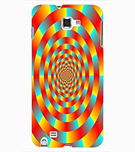 ColourCraft Lovely Colourful Pattern Design Back Case Cover for SAMSUNG GALAXY NOTE 1