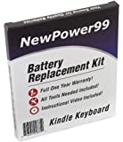 Kindle Keyboard eReader Battery Replacement Kit with Video Installation DVD, and Extended Life Battery.