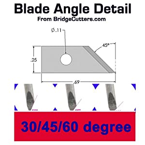 3-Pack 60 Degree Roland Type Cemented Carbide Blade Set (Color: Blue)