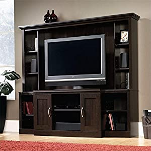 Sauder Large Entertainment Center in Cinnamon Cherry