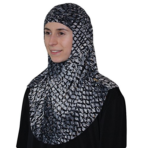 Firdevs-Turkish-Practical-Amira-Hijab-High-Quality-Two-Piece-Lattice-Grey