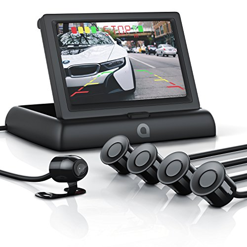 CSL-Rckfahrkamera-mit-Display-Einparkhilfe-Sensorsystem-Set-Autokamera-Rckfahrhilfe-43-10922cm-TFT-Monitor-Blickwinkel-135-hochwertige-Sensoren-Technik-wasserdicht-IP68-Kamera