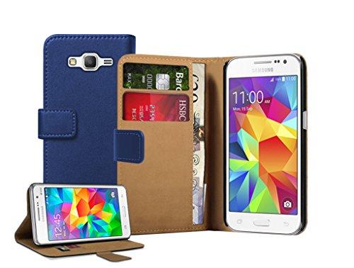 Membrane - Blu Portafoglio Custodia per Samsung Galaxy Core Prime (SM-G360F) - Wallet Flip Case Cover + 2 Pellicola Protettiva