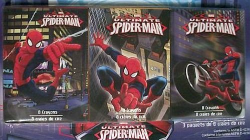 Marvel Spider-man 3 Pack 8 Count Crayons Varied - 1