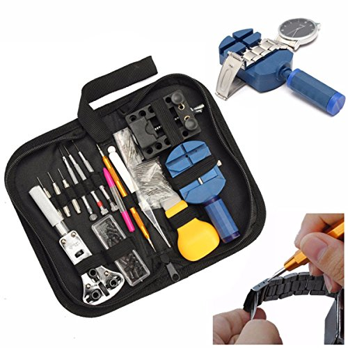 BABAN 144 Pcs Portable Watchmaker Watch Repair Tools Kit Set Back Case Opener Adjuster Remover