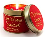 Lily Flame Scented Candle in a presentation Tin - Christmas Spice
