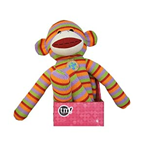 Totally Me! Tween 21 inch Sock Monkey Buddy - Blue and White