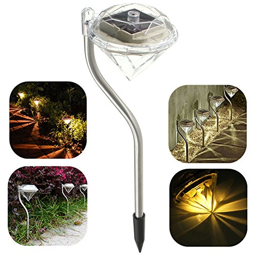 Solar Powered Diamond Shape LED Lamp Path Wall Landscape Mount Street Garden Light Outdoor Lighting strassen lampe (Denso Ac Compressor Kit compare prices)