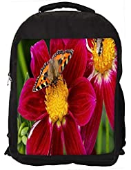 "Snoogg Butterfly Seeking Honey Casual Laptop Backpak Fits All 15 - 15.6"" Inch Laptops"
