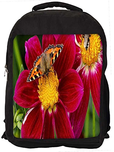 """Snoogg Butterfly Seeking Honey Casual Laptop Backpak Fits All 15 - 15.6"""" Inch Laptops"""